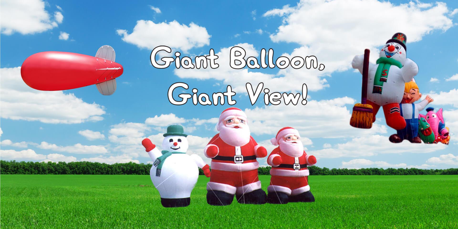 blimp-snowman-Santa-balloon