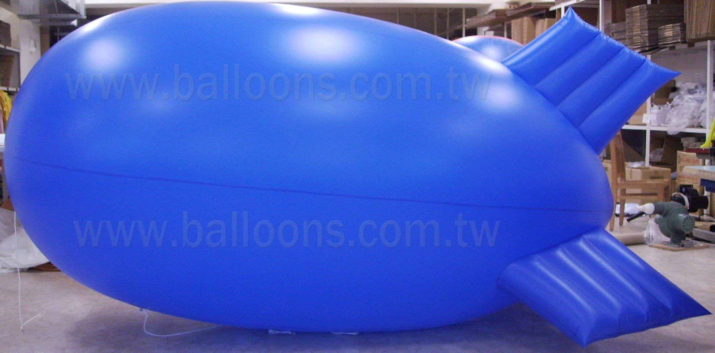 10ft long standard shape of inflatable fins blimp balloon翔奕標準形狀的軟翅飛船空飄氣球