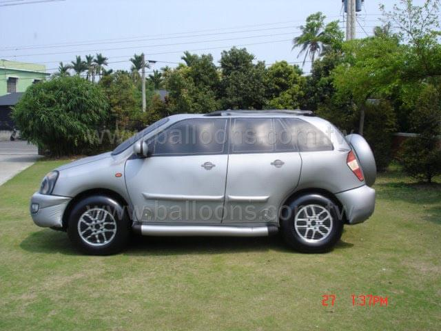 Custom silver SUV car advertising balloon銀色休旅車廣告氣球