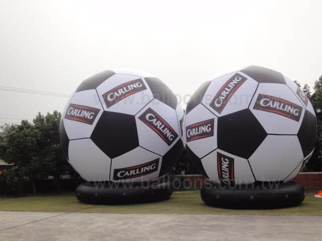 Printed logo soccer advertising balloon with plinth足球氣球加底座