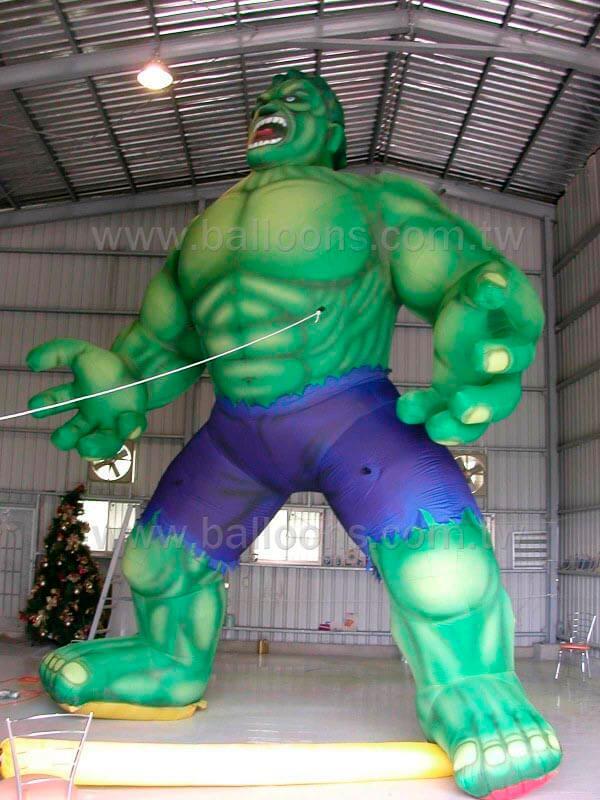 Inflatable cartoon green characters balloon動漫綠巨人造型氣球