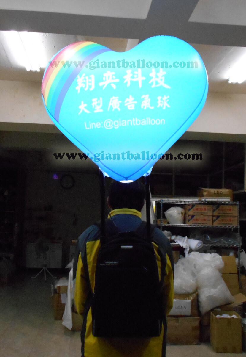 愛心造型氣球LED發亮背包