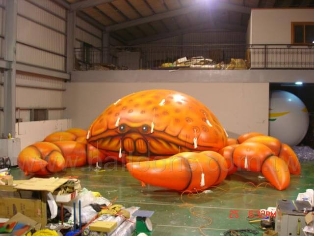 Helium filled crab balloon空飄螃蟹造型氣球