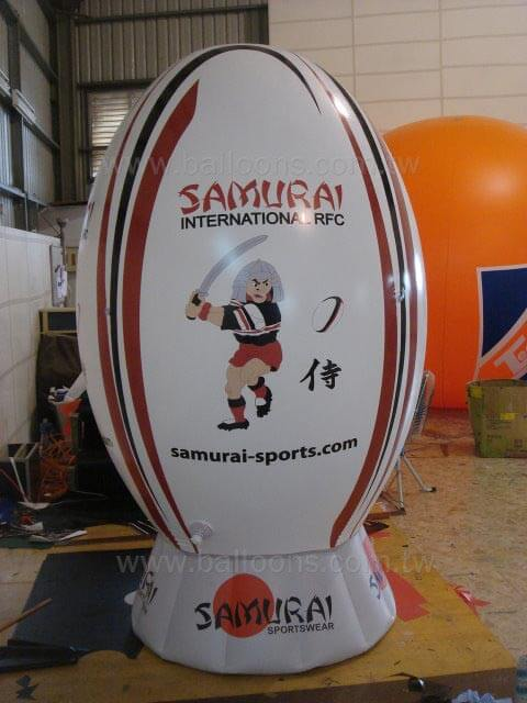Advertising rugby balloon with tee橄欖球型廣告氣球加底座