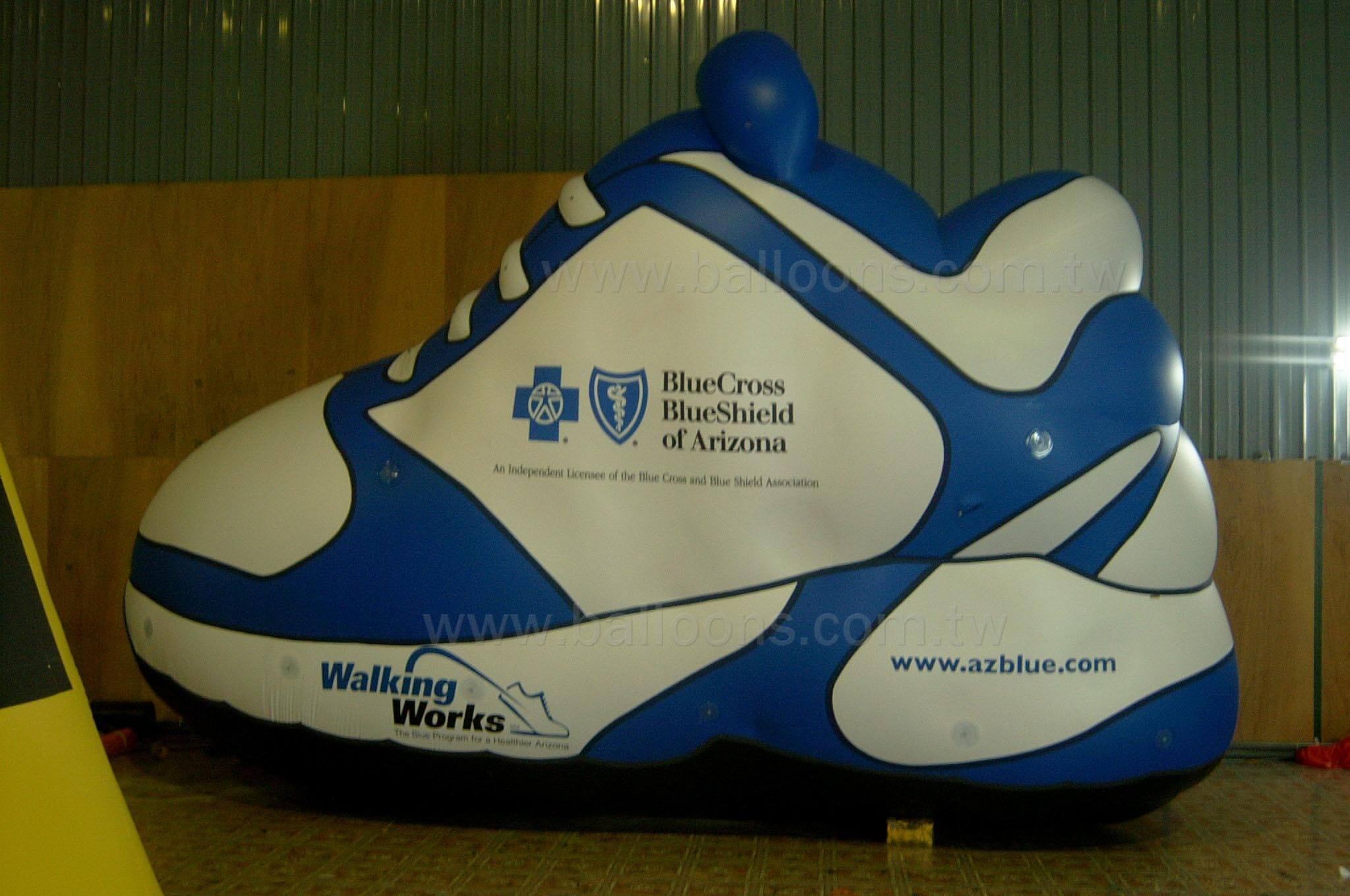 Advertising Shoe balloons客製化藍白運動球鞋廣告氣球
